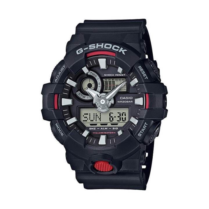 แท้ Casio G-Shock นาฬิกาข้อมือผู้ชาย รุ่น GA-700-1ADR (สีดำ/แดง)