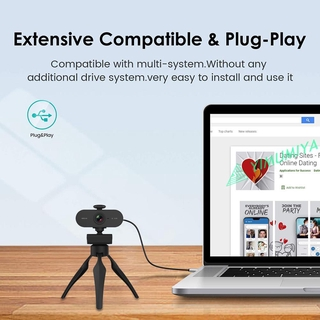 YI 4MP 2K HD Webcam with Built-in Mic USB Web Camera with Privacy Cover Tripod