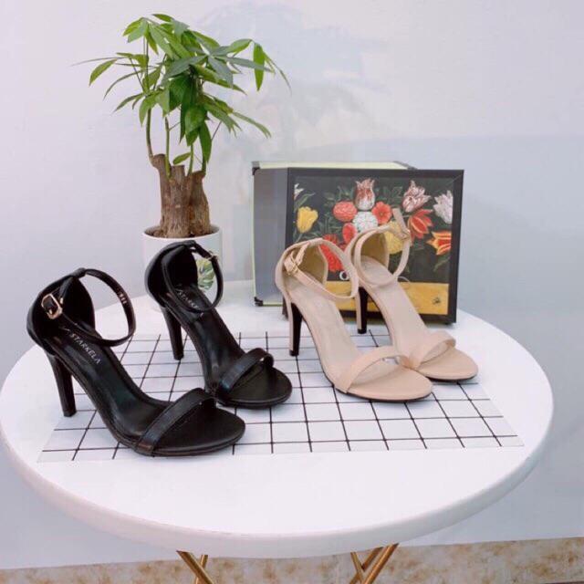 Giày cao gót 8p sandal quai ngang mảnh Ngọc Trinh (RB8)
