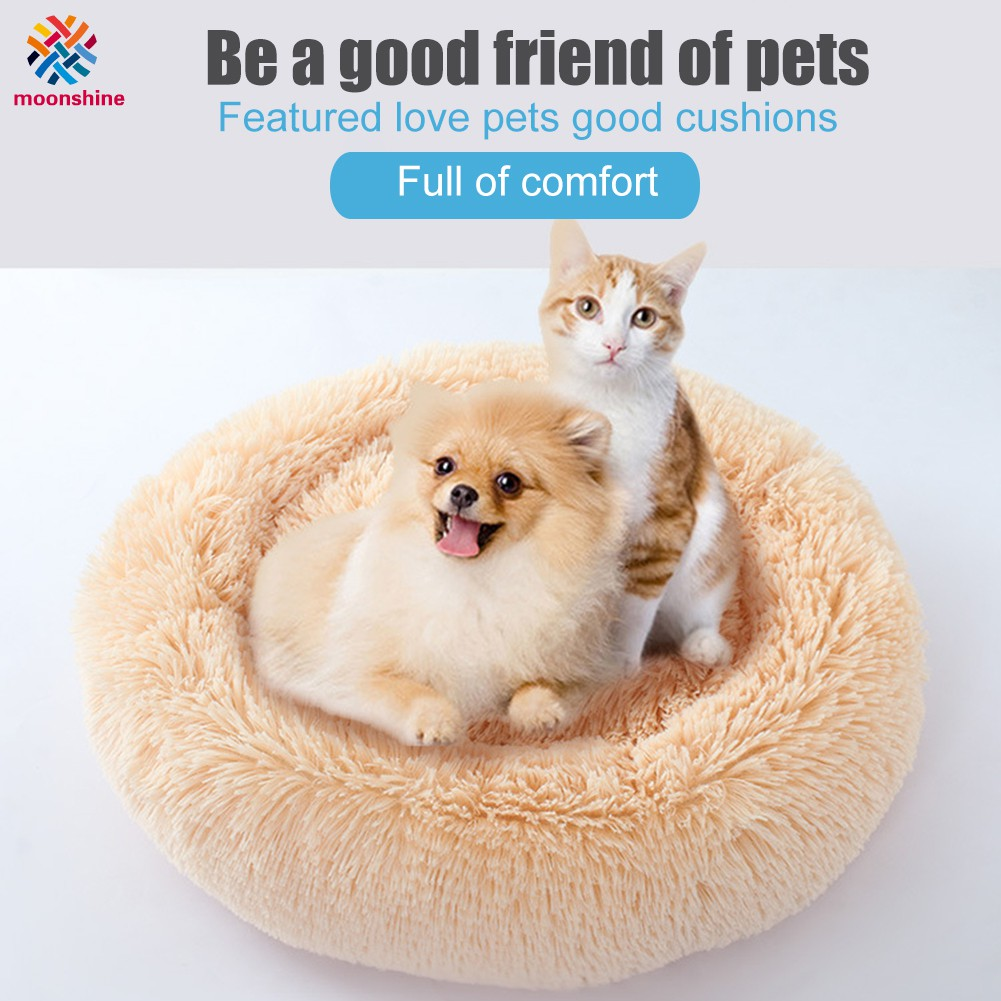 Rounded Kennel Soft Warm Kitten Puppy Nest Comfortable Dog Sleeping Bed for Winter Autumn