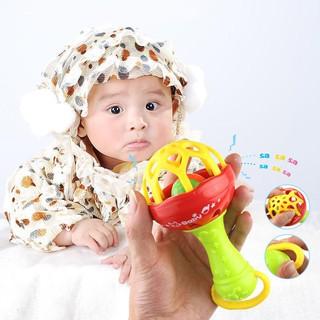 Đồ chơi chuông lắc cầm tay bằng nhựa thú vị dành cho các bé