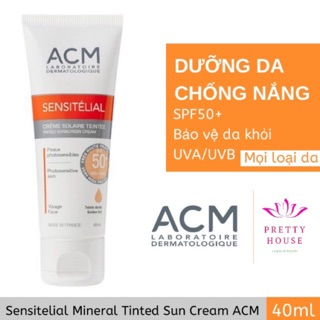 Kem chống nắng phù hợp mọi loại da ACM Sensitelial Tinted Mineral Cream SPF50+ thumbnail