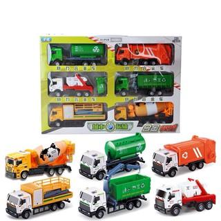 Bộ 6 xe công trình bằng sắt nhiều màu dành cho bé trai