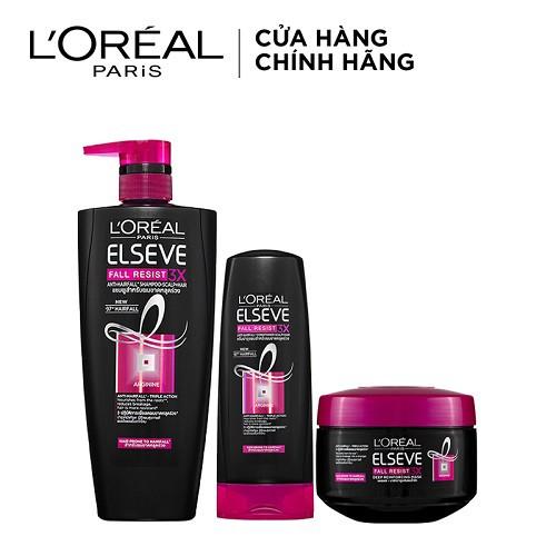 Bộ sản phẩm ngăn gãy rụng tóc toàn diện L'oreal Paris 1175ml