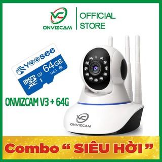 [COMBO V3 + 64G] Camera không dây ONVIZCAM thương hiệu việt nam model V3 chính hãng