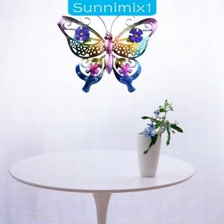 [SUNNIMIX1]Metal Butterfly Wall Art Hanging Sculpture Figurine Statues Garden Decor