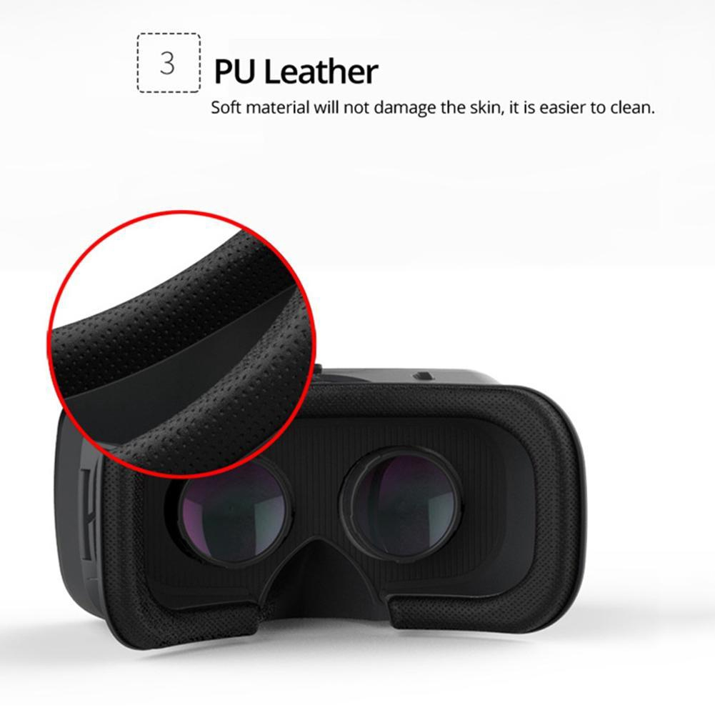 3D VR Adjustable Glasses Headset With PMMA Lens Less Pressure Eye-protected