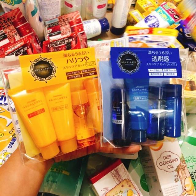 Set Shiseido Aqualabel đỏ xanh vàng