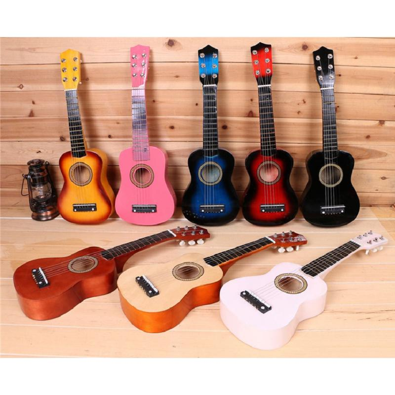 """☆Children Toy 21"""" Kids Basswood Acoustic Guitar 6 String Music Instruments"""