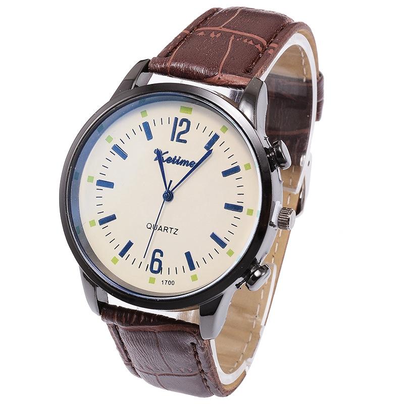 Sports Belt Men's Watch Simple Large Dial Quartz Watch