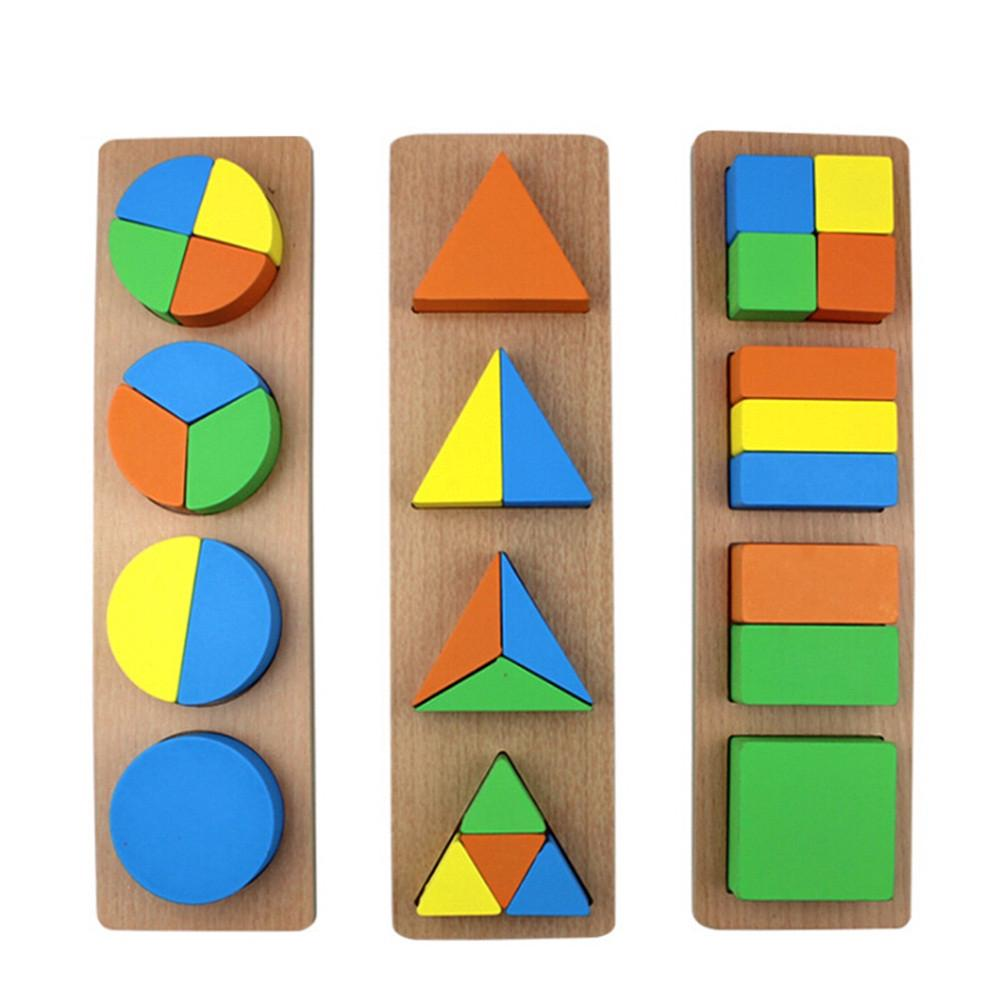 【COD】😺Wooden Children's Geometric Figure Puzzle Jigsaw Educational Toy