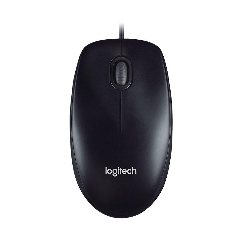 Chuột quang có dây Logitech M100R (Đen) - Hãng phân phối chính thức