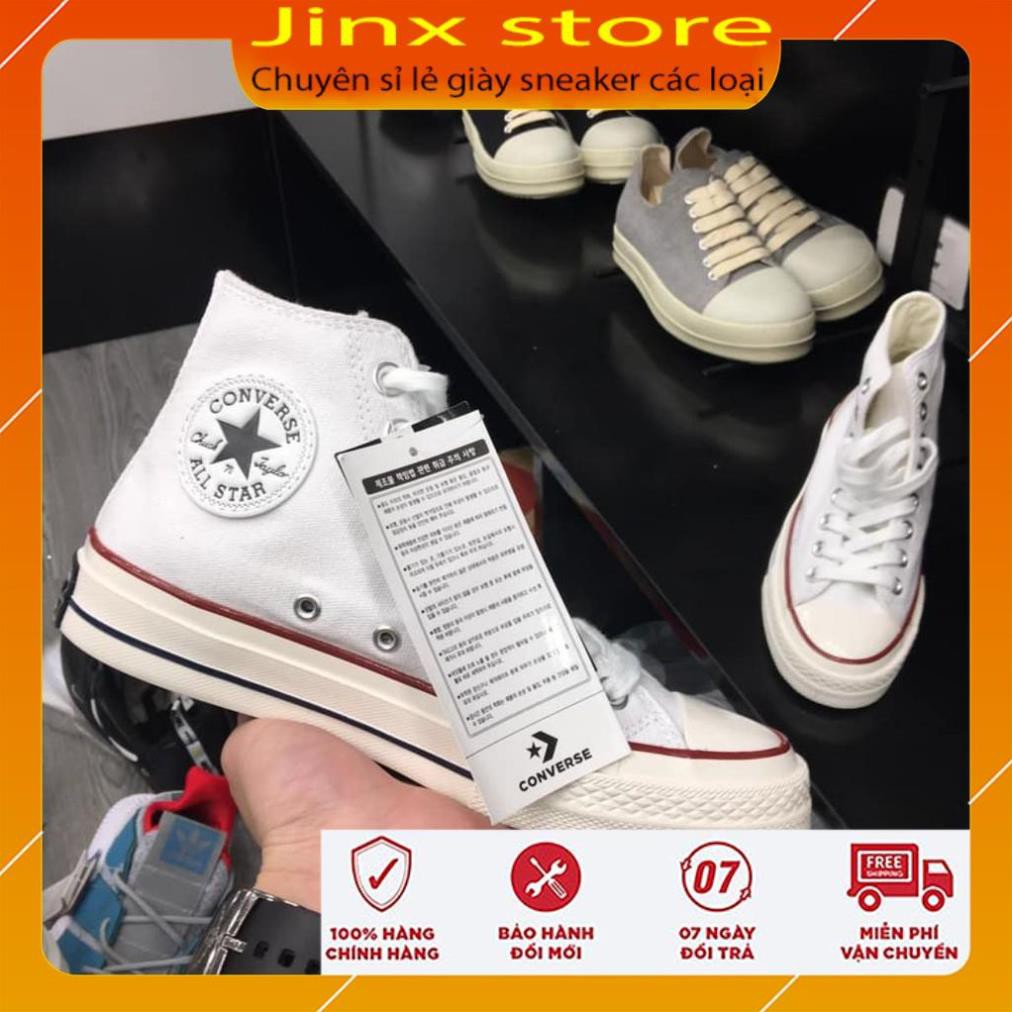 Giày Thể Thao Sneaker Cv Trắng Cổ cao 1.1 Jinx Store