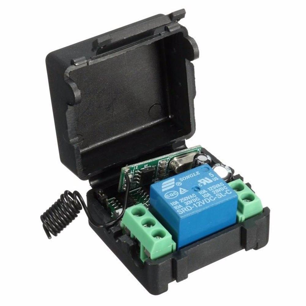 12V Wireless Relay Switch Universal Transmitter Module Kit Remote