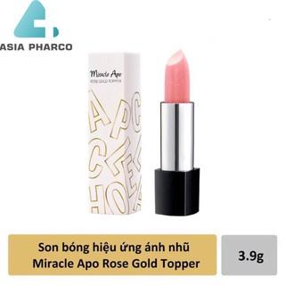 Son bóng hiệu ứng ánh nhũ Miracle Apo Rose Gold Topper 3.9g thumbnail