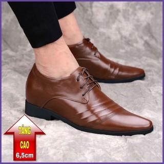 Giày tăng chiều cao nam 6,5cm BẢO NGỌC STORE Chất liệu da bò nguyên tấm phong cách công sở lịch lãm Mã TC2356 thumbnail
