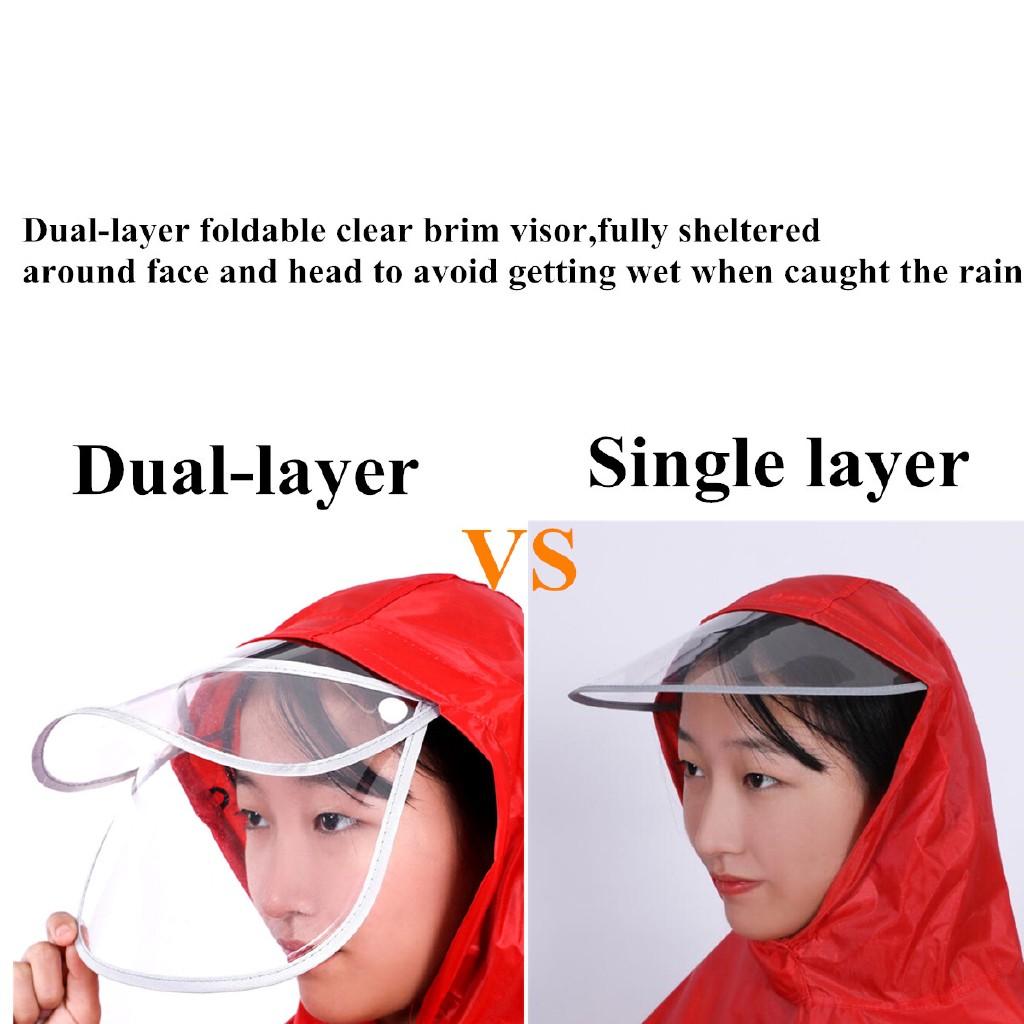 PL◇Unisex Outdoor Poncho Motorcycle Raincoat Breathable Rainwear Waterproof Coat