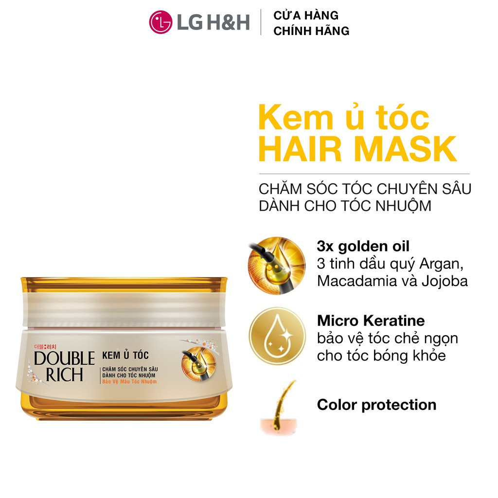 Kem ủ tóc Double Rich Hair Mask 150ml