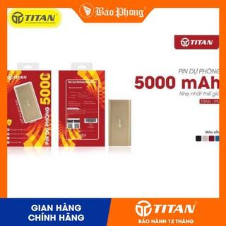 Pin dự phòng TITAN P5 5000 mAh Kim loại cao cấp (BẢO HÀNH 12 THÁNG) thumbnail