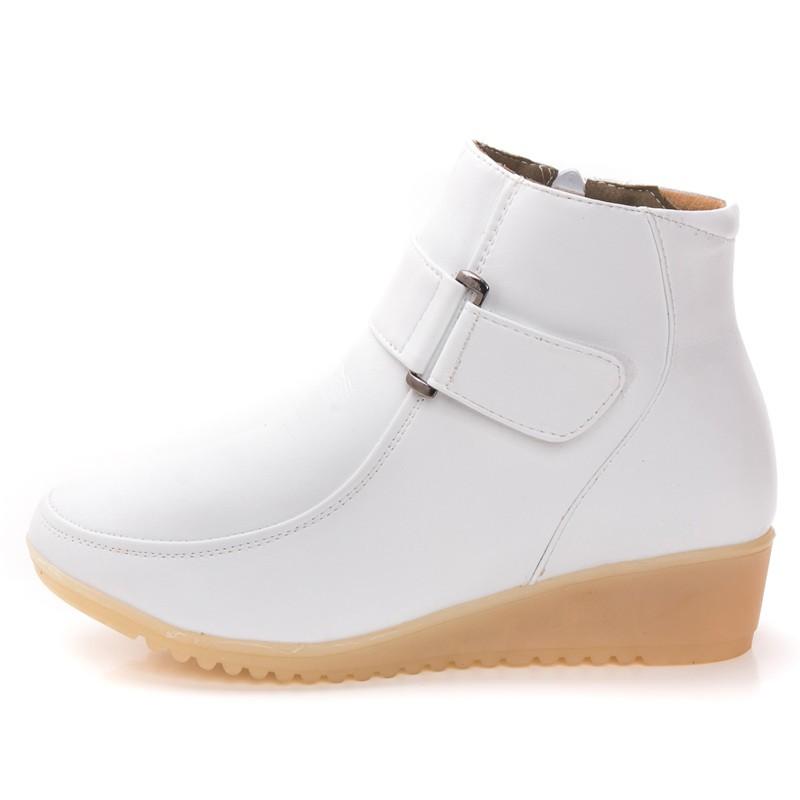 Giày y tá mùa đông đế mềm cho nữ- giày nữ mùa đông- boot thời trang- giày y tế- giày y tá trắng- giày đi trong bệnh viện
