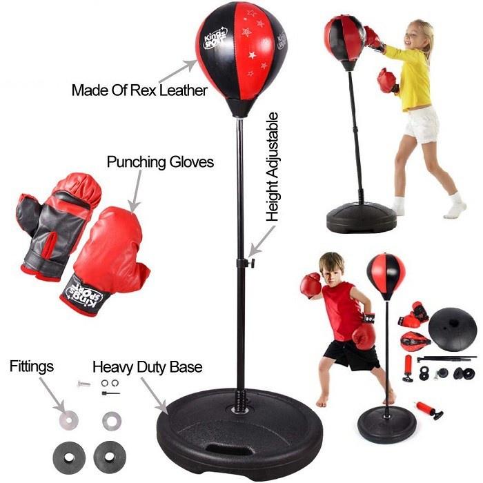 𝑩𝒐̣̂ Đ𝒐̂̀ 𝑪𝒉𝒐̛𝒊 Đ𝒂̂́𝒎 𝑩𝒐̂́𝒄 Cho Bé Boxing Set (có găng tay, trụ đỡ, giá đỡ)