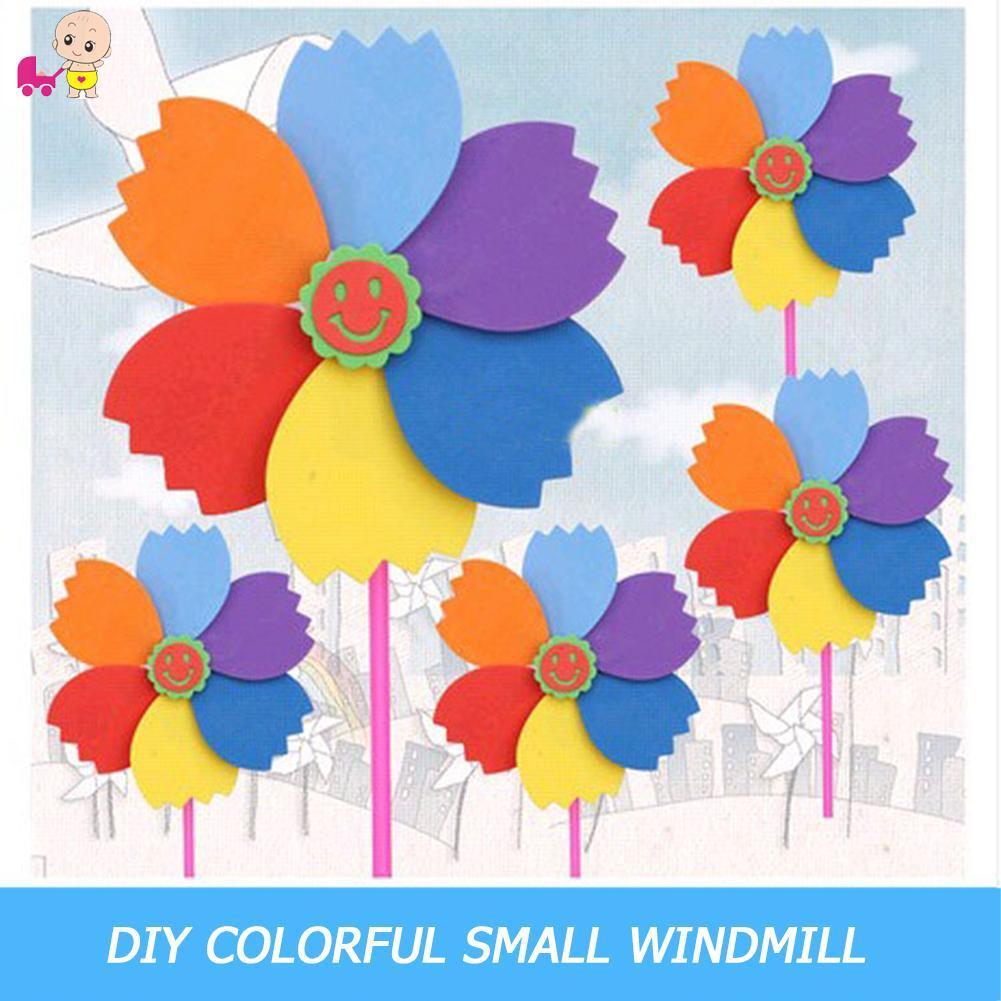 ❦Ready Stock❦ DIY Sponge Wind-spinner Handmade Garden Windmill Child Puzzle Toy Random [keith1]