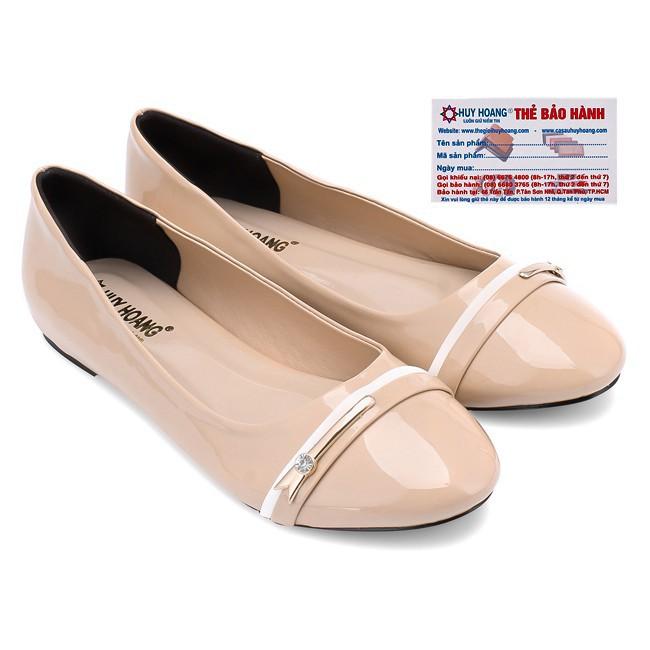 Giày Nữ Đế Bệt Huy Hoàng HW7002 - Kem (Size 35