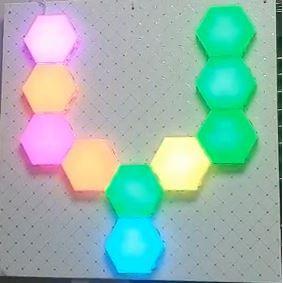 Bộ 10 Đèn Led tổ ong, đèn led lục giác cảm ứng, đèn dán tường, đèn trang trí, đèn cảm ứng