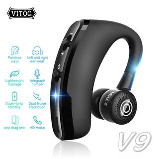 Tai nghe Vitog Bluetooth V9 cao cấp màu đen sang trọng