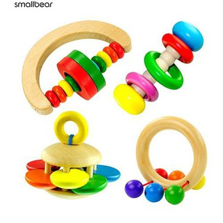 💮🐬Kids Rattle Toy Handbell Musical Education Bell Toys
