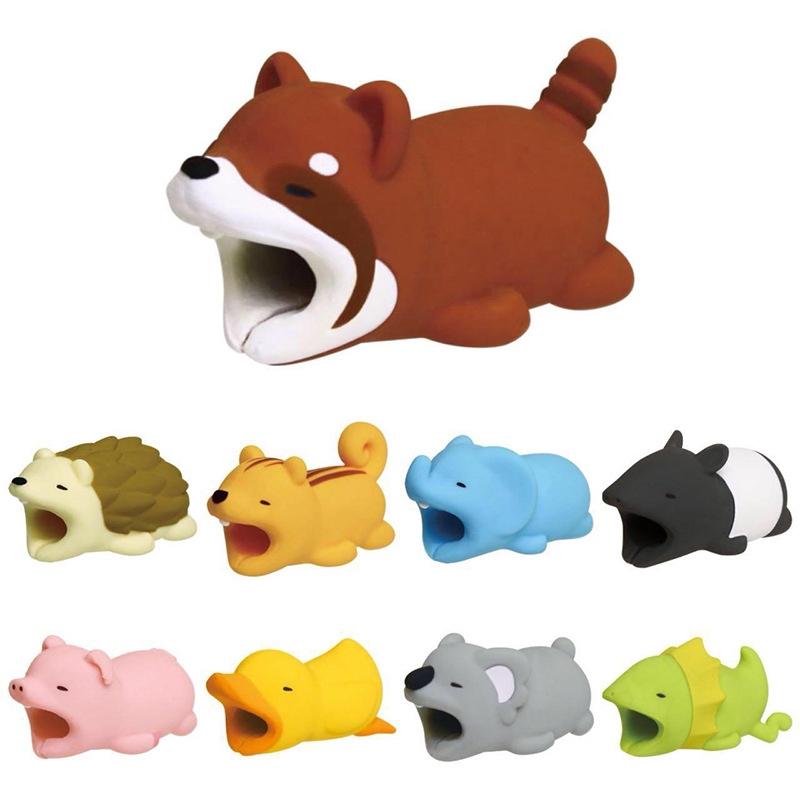 Phụ kiện bảo vệ đầu cáp sạc USB hình con vật đáng yêu