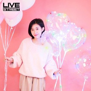 LIVE LED Balloon Transparent Love Heart Shape for Party