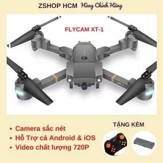 Flycam 💖FREESHIP💖 Máy Bay Điều Khiển Từ Xa 80m Flycam Mini Chất Lượng Full HD 720P