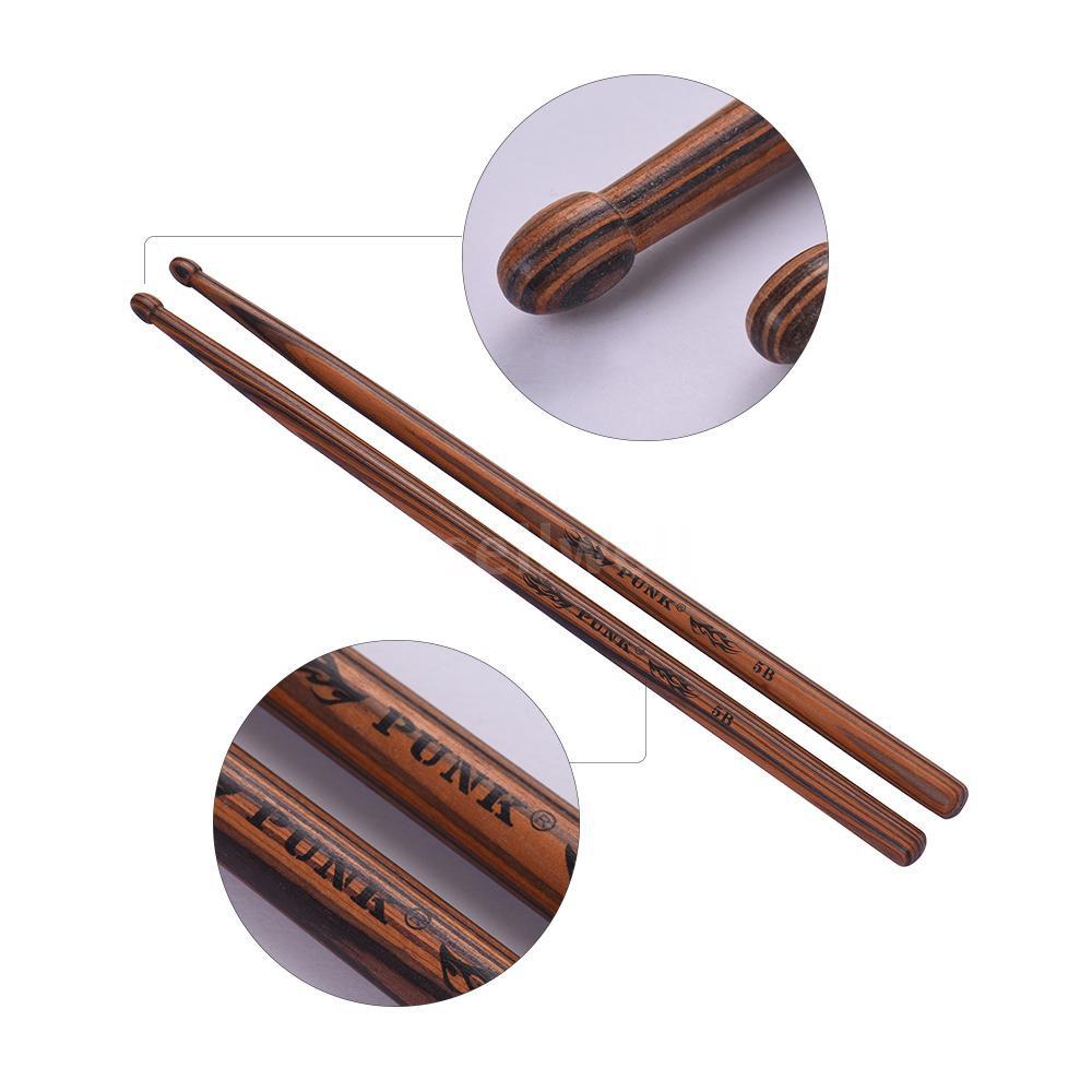 One Pair of 7A Wooden Drumsticks Drum Sticks Maple Wood Drum Set Accessories