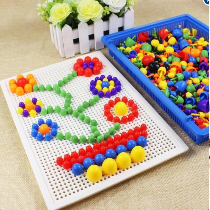 [giá tốt] Đồ chơi xếp hình nấm thông minh 296 chi tiết cho bé
