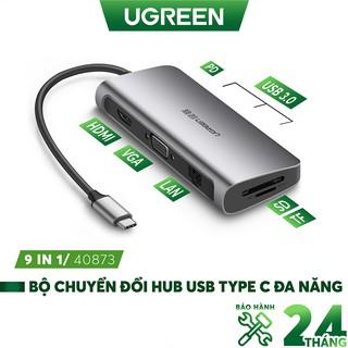 Bộ chuyển đổi đa năng UGREEN CM121 CM212 cho MacBook, Dell XPS 13, và thiết bị máy tính điện thoại hỗ trợ USB type C