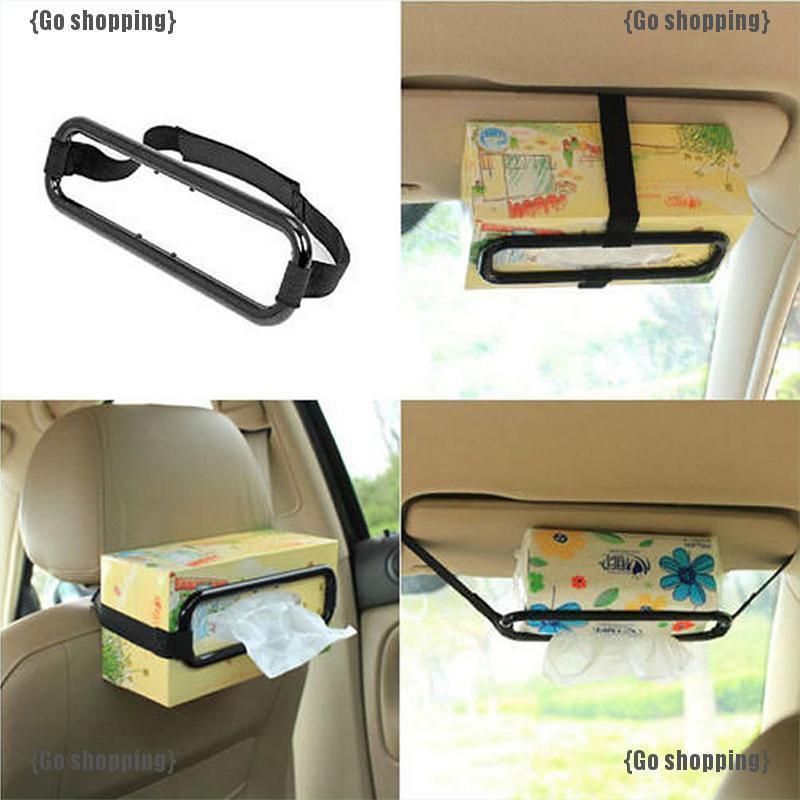 {Go shopping}Hot Car Tissue Napkin Box Holder Auto Vehicle Seat Visor Paper Organiser Storage