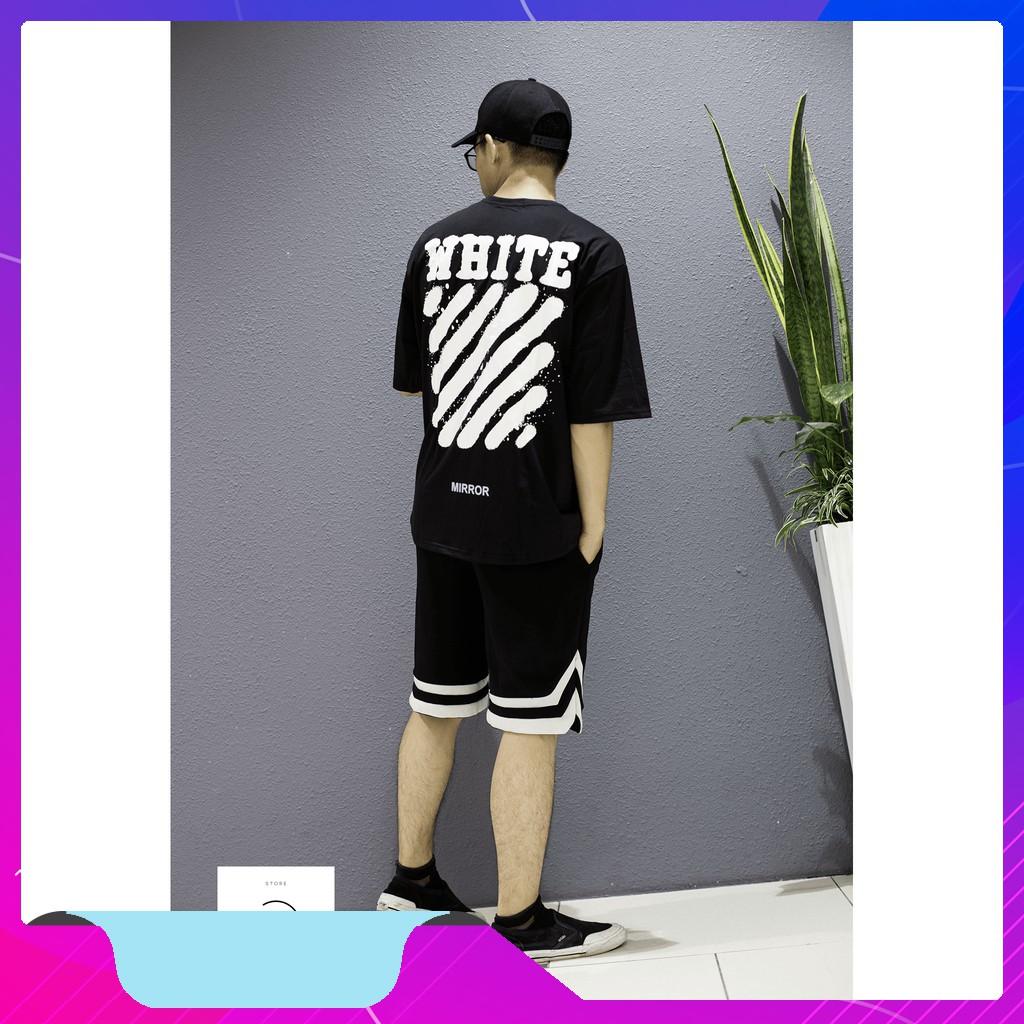 Set quần áo thể thao Off.W.hite ( Áo thun tay lỡ off.w.hite + Quần short 2v ) | Lee Hoàng Group