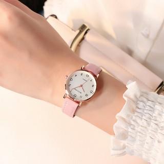 Đồng hồ thời trang nữ Mstianq M02 dây da lộn, kiểu dáng lịch lãm, 5 màu dể dàng phối đồ
