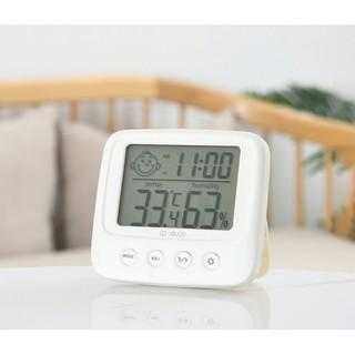 Đồng hồ để bàn theo dõi nhiệt độ, độ ẩm, hiện thị thời gian SP SAUCE - Hàng Nội Địa Nhật thumbnail