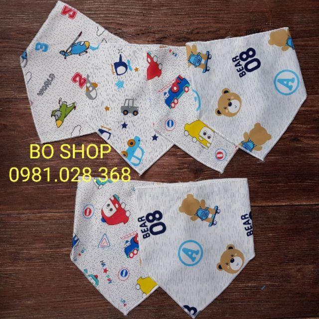 [GIÁ SỐC] phụ kiện cho bé - 10 khăn tam giác nỉ bông cho bé trai, bé gái | Toàn Quốc