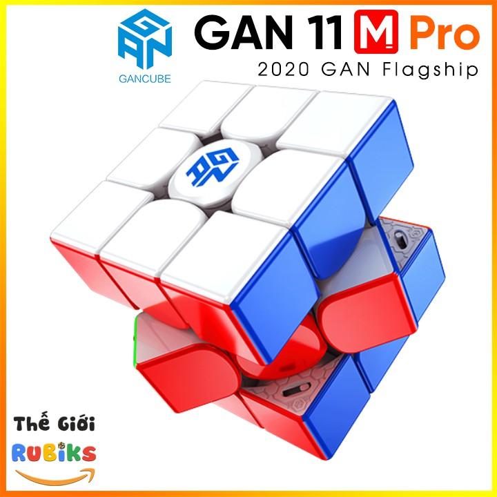 Khối Rubik GAN 11 M Pro / Duo 3×3 Có Sẵn Nam Châm GAN11 Frosted, UV Coated, Soft Edition GANCUBE Flagship 2021