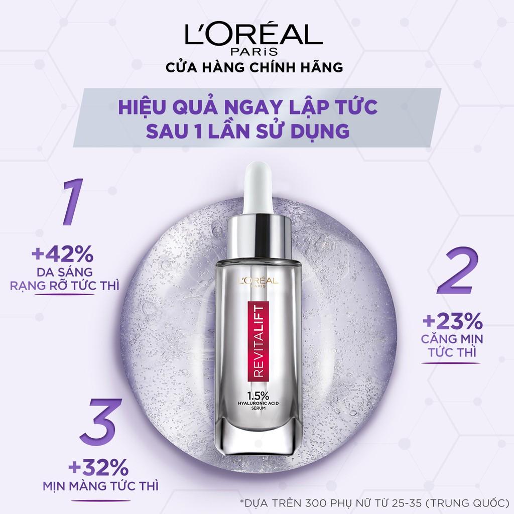 Serum siêu cấp ẩm sáng da L'Oreal Paris pure Hyaluronic Acid 1.5% 30ml |  Shopee Việt Nam