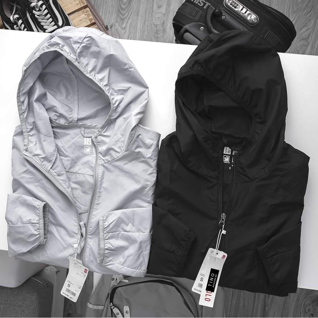 Áo khoác Dù Nam có mũ dáng chuẩn,Vải gió Chống nước nhẹ,2 lớp gió ,1 lớp lót lưới bền đẹp