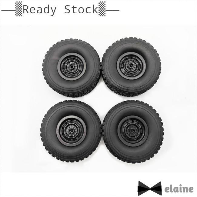 Elaine 4PCS/Set HengLong WPL C34 Four-wheel Drive FJ40 Cruiser RC Auto Parts Wheel Tires