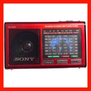 Đài sony SW-548U(SW-538U) nghe FM, USB thẻ nhớ có cả đèn pin LED rất sáng BH 6 tháng đổi mới