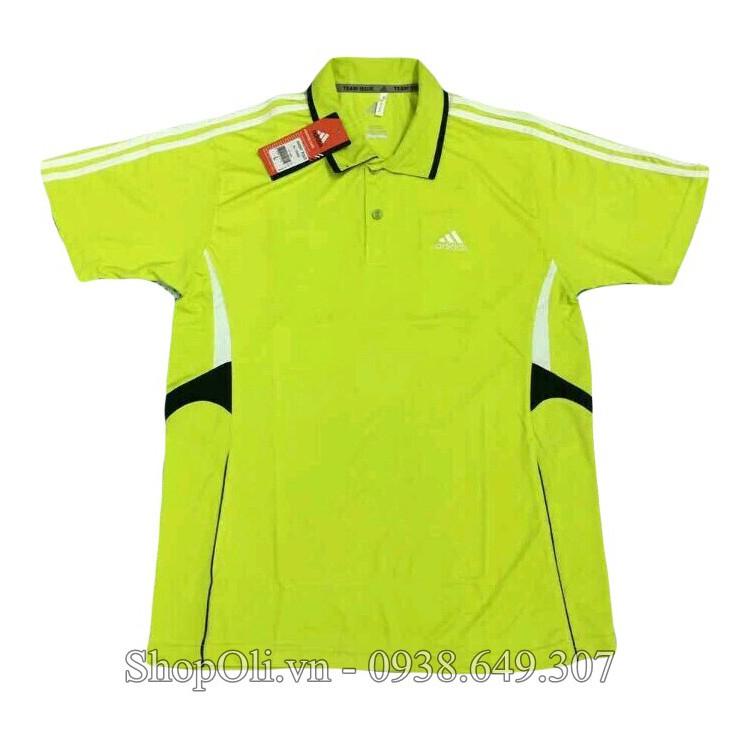 Áo thể thao cầu lông tennis nam xanh chuối