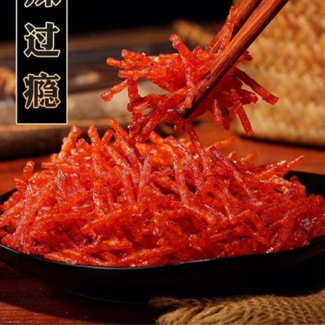 Đồ ăn vặt Trung Quốc Sợi Cay, Bò khô 5gói