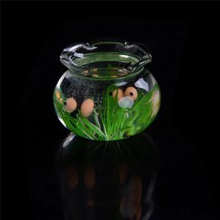 ☆VN 1:12 Miniature Glass Fish Tank Transparent Aquarium Dollhouse Ornaments Decor