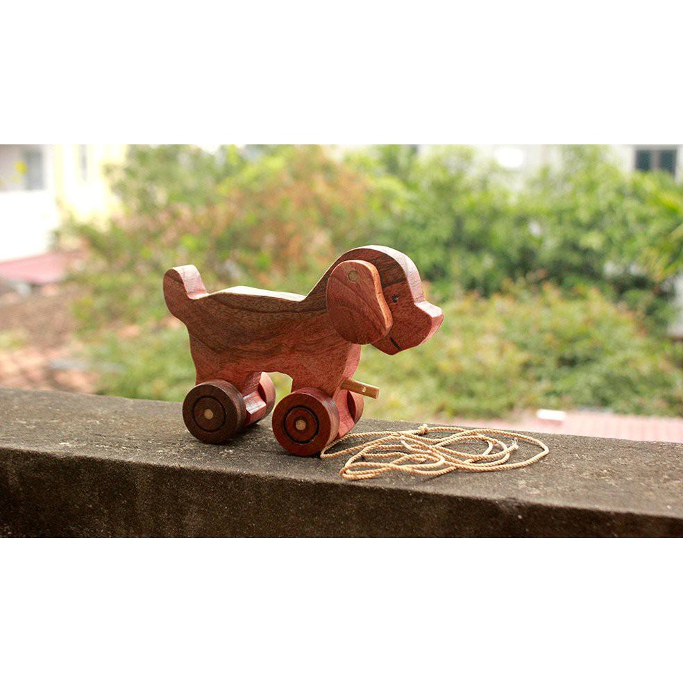 Đồ chơi gỗ phát triển trí tuệ Chó Con Gỗ, Đồ Chơi An Toàn Bằng Gỗ
